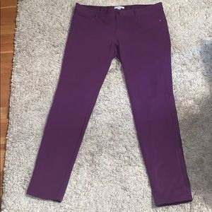 EUC New York and company purple stretch jeggings